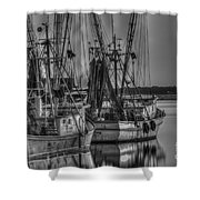 Save The Lowcountry Shrimping  Shower Curtain