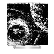 Save The Planet - Black And White -horizontal Formal -abstract By Laura Gomez Shower Curtain