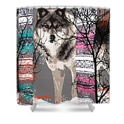 Save The Wolves Shower Curtain