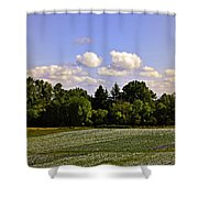 Savie Island Flower Garden Shower Curtain