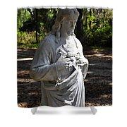 Savior Statue Shower Curtain by Al Powell Photography USA