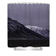 Sawtooth Mountain At Night Shower Curtain