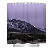 Sawtooth Mountain In December Shower Curtain