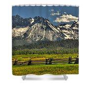 Sawtooth Mountains Shower Curtain
