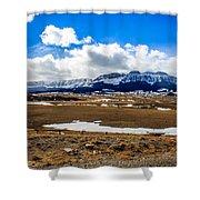 Sawtooth Ridge Shower Curtain