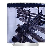 Sawtooth Sunset In Winter Shower Curtain