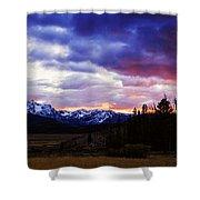 Sawtooth Sunset Panorama Shower Curtain
