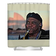 Sax In The City Shower Curtain