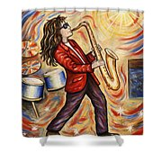 Sax Man Shower Curtain
