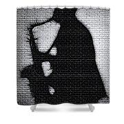 Sax On The Bricks Shower Curtain