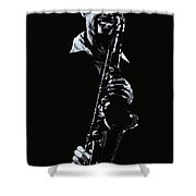 Sax Player Shower Curtain