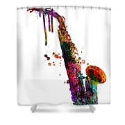 Saxophone 2 Shower Curtain