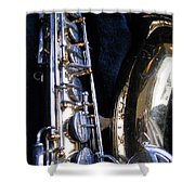 Saxophone View 4 Shower Curtain