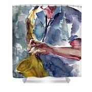 Saxophonist Shower Curtain