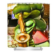 Saxy Frog Shower Curtain