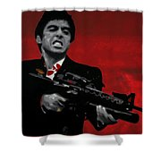 Say Hello To My Little Friend  Shower Curtain by Luis Ludzska