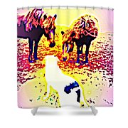 It's Wise To Say Friendly Hello To The Dog, It's A Predator  Shower Curtain