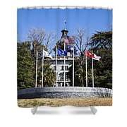 Sc Veterans Monument Shower Curtain