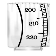 Scale Numbers Shower Curtain
