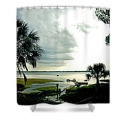 Scallop Waters Shower Curtain