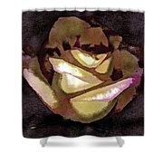 Scanned Rose Water Color Digital Photogram Shower Curtain