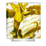 Scarecrow Babysitter Shower Curtain