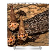 Scarecrow Cupcakes Shower Curtain