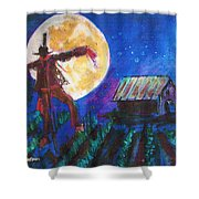 Scarecrow Dancing With The Moon Shower Curtain