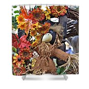 Scarecrow In A Chair Shower Curtain