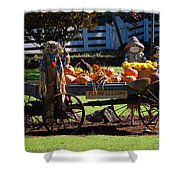 Scarecrow Rides Shower Curtain