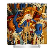 Scarecrows Shower Curtain