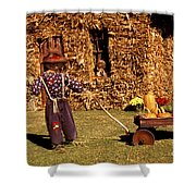 Scarecrows Play Too Shower Curtain