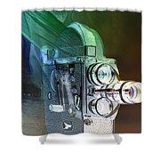 Scarf Camera In Negative Shower Curtain