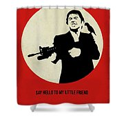 Scarface Poster Shower Curtain by Naxart Studio