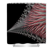 Scarlet And Gray Shower Curtain