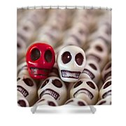 Scarlet And White Shower Curtain