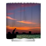 Scarlet Fire Shower Curtain