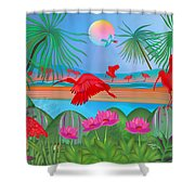 Scarlet Party - Limited Edition 1 Of 20 Shower Curtain