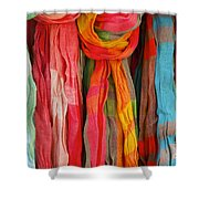 Scarves Shower Curtain