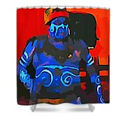 Scary Fella Shower Curtain