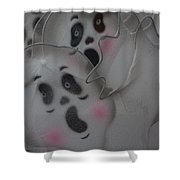 Scary Ghosts Shower Curtain