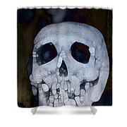 Scary Skull Shower Curtain by Dan Sproul