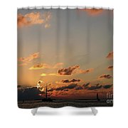 Scattered Clouds Shower Curtain