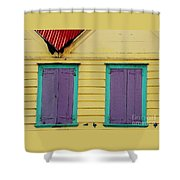 Colorful Doors In Antigua Shower Curtain