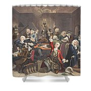 Scene In A Gaming House, Plate Vi Shower Curtain