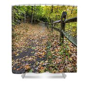 Scene In Mill Creek Park  Shower Curtain