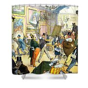 Scene In The Louvre 1911 Shower Curtain