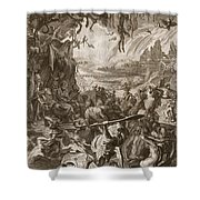 Scene Of Hell, 1731 Shower Curtain