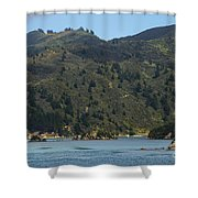 Scenery On Cook Strait Shower Curtain