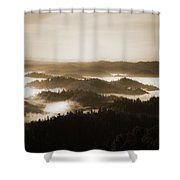 Scenery With Silhouettes Shower Curtain